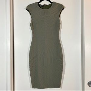 Beautiful olive green bebe dress
